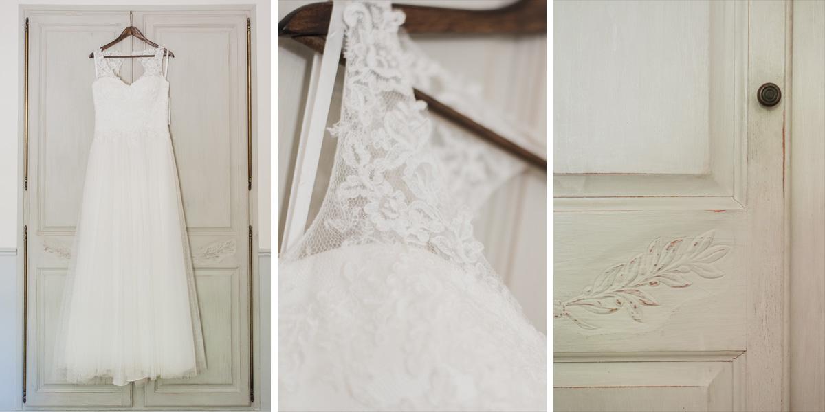 domaine blanche fleur photographe mariage vaucluse 84 robe mariée détail