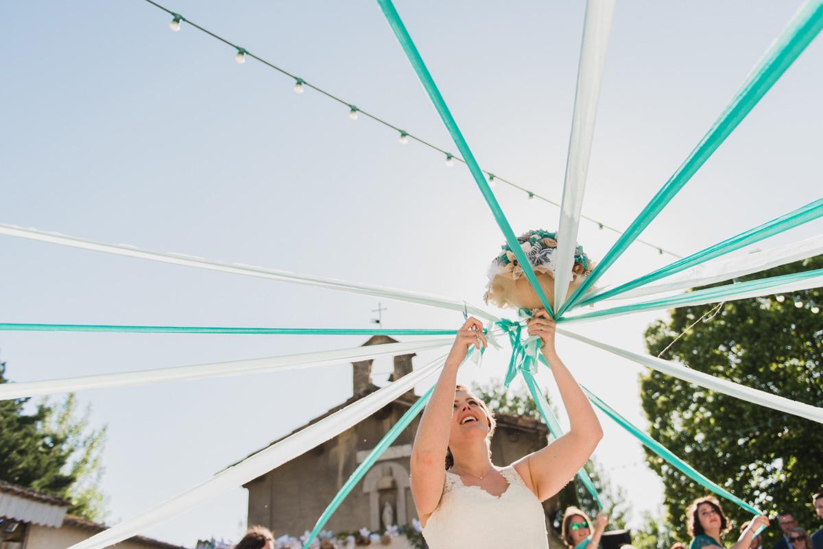lancer du bouquet mariée mariage vaucluse