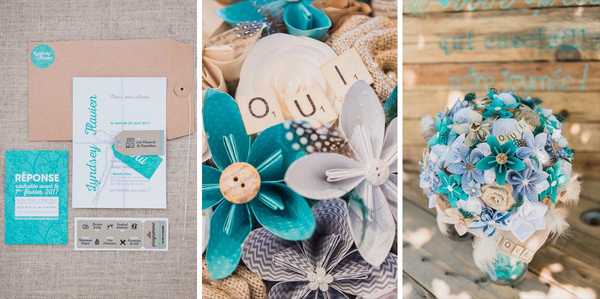 photographe mariage vaucluse bouquet mariée domaine blanche fleur 84